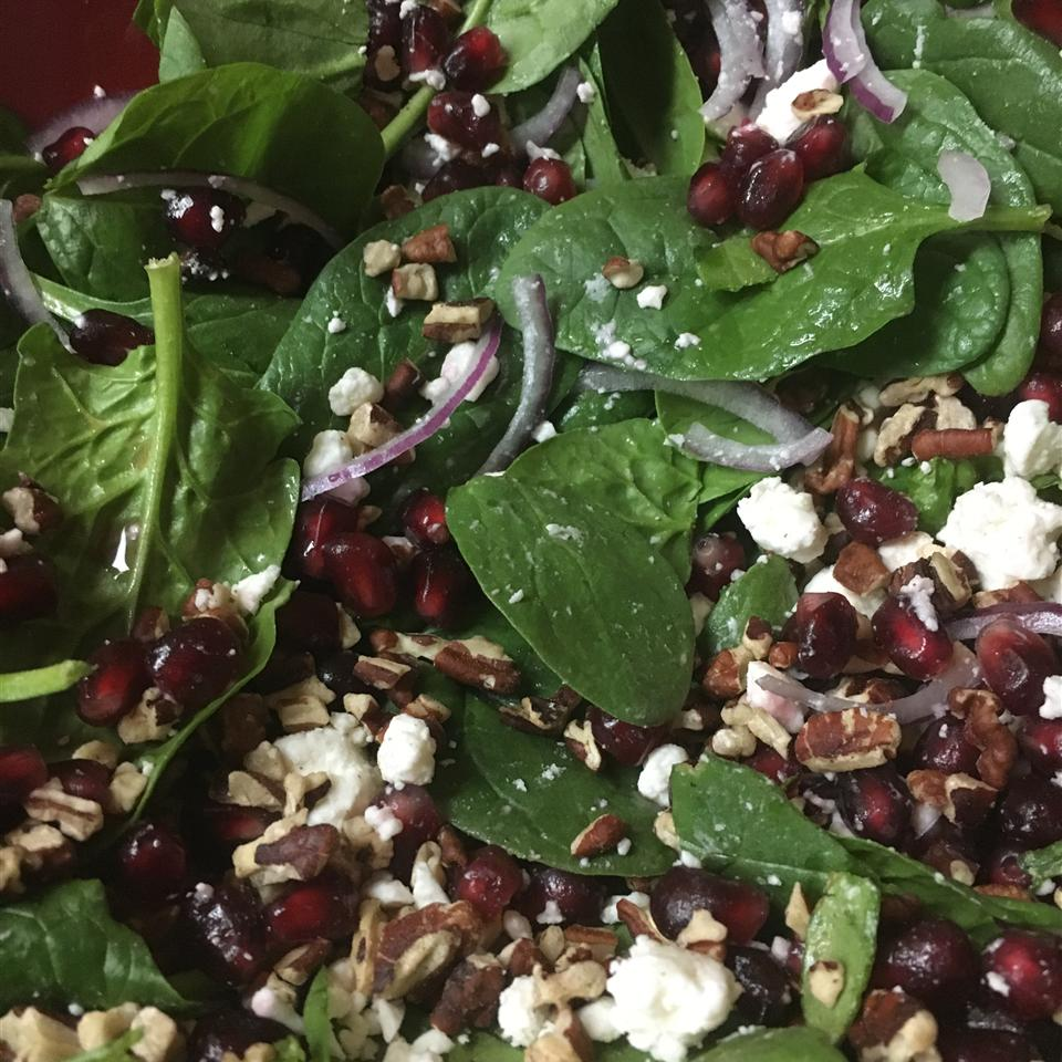 Spinach Pomegranate Salad