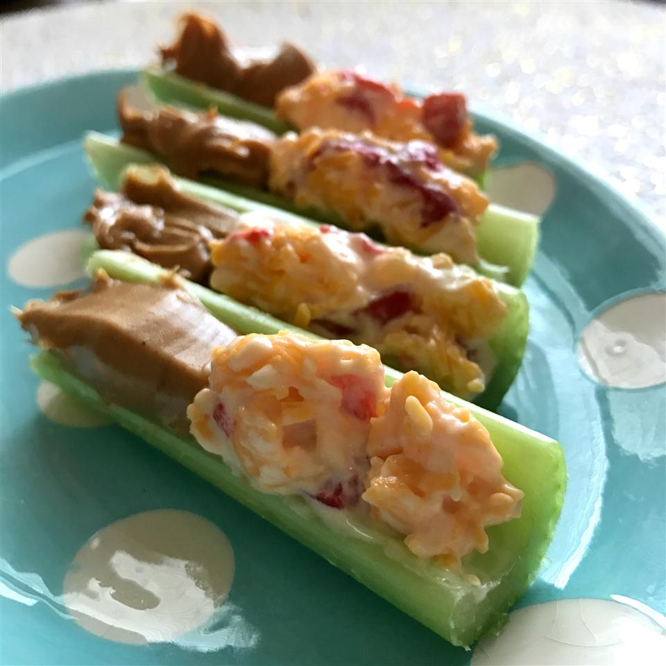 Peanut Butter and Pimento Cheese-Stuffed Celery