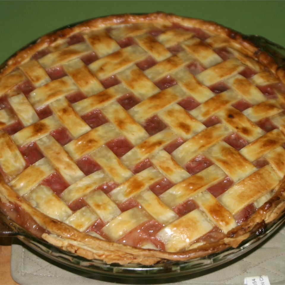Fast Apple Rhubarb Pie Brett Styles