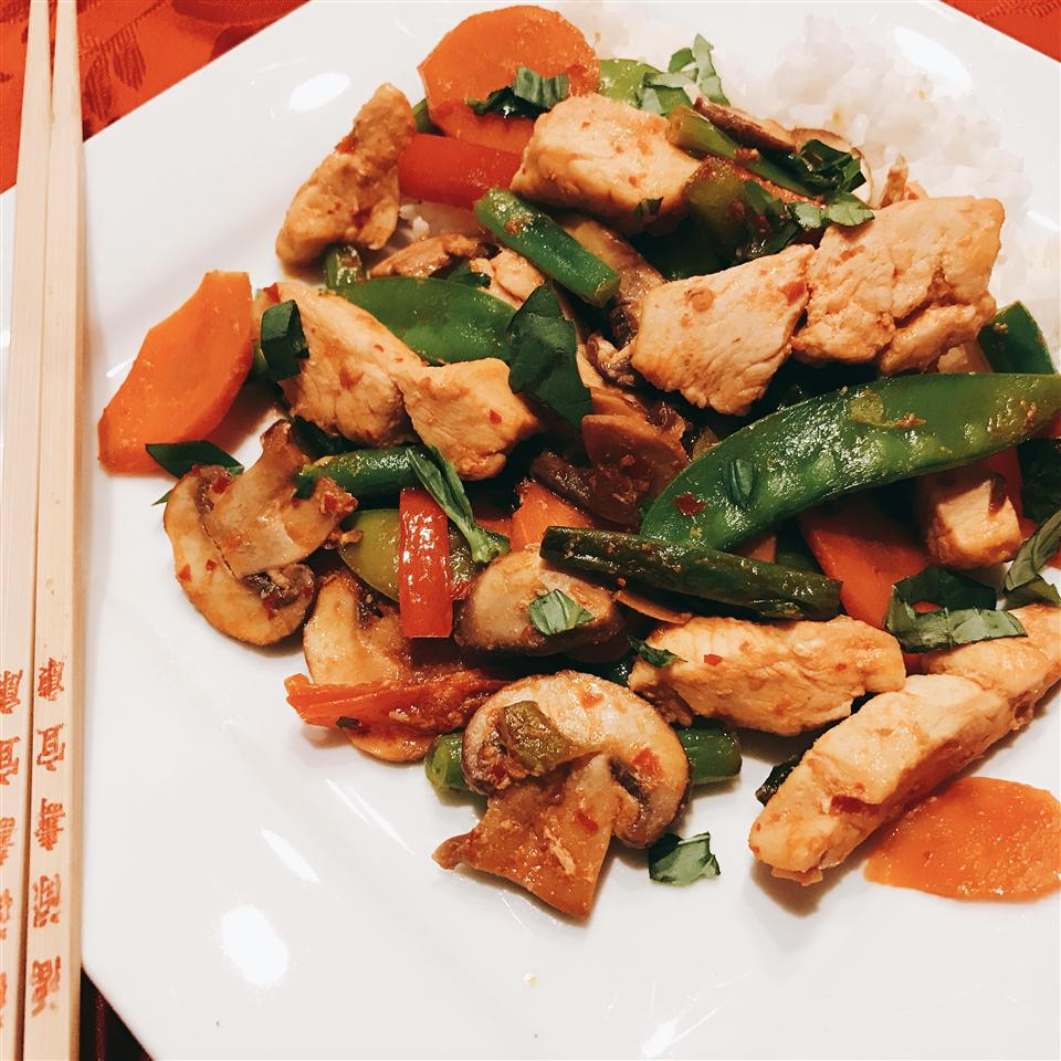 NP's Spicy Thai Basil Chicken and Veggies