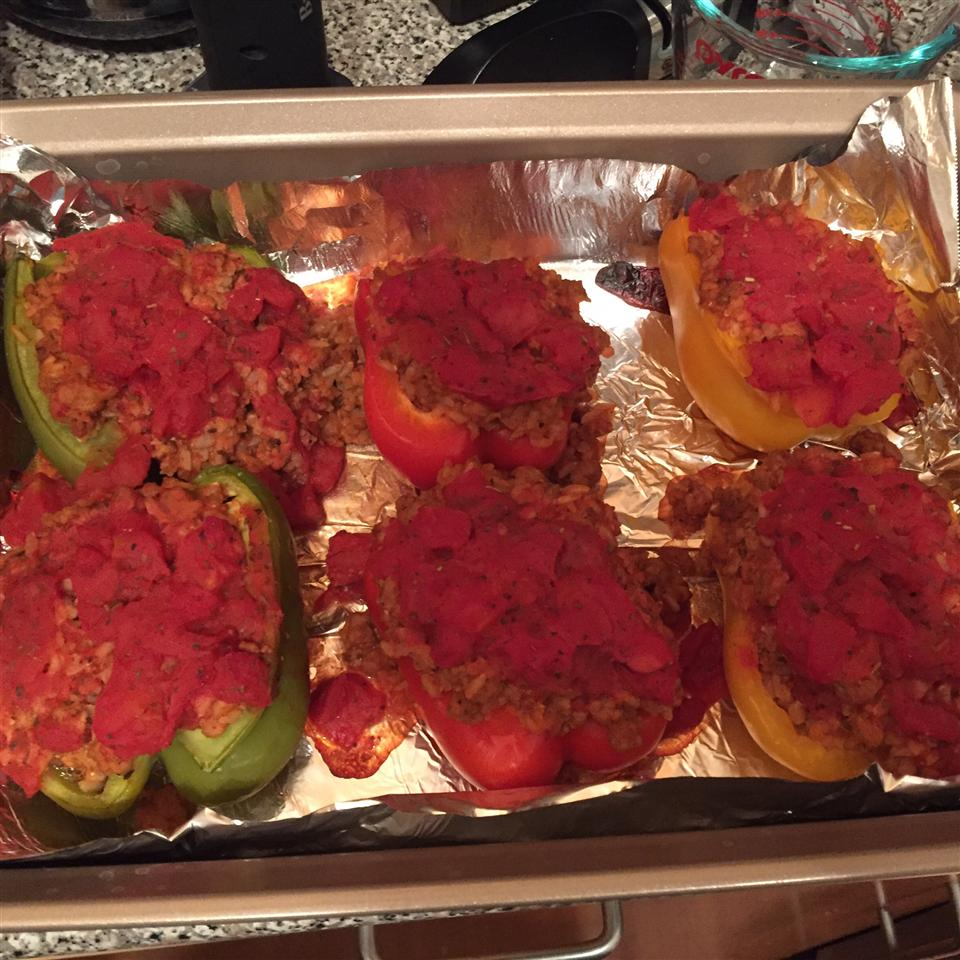 Bison and Brown Rice Stuffed Peppers Owen Palmer
