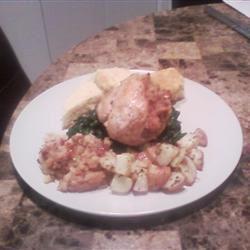 Savory Stuffed Chicken Breast with Plum Glaze gingercam