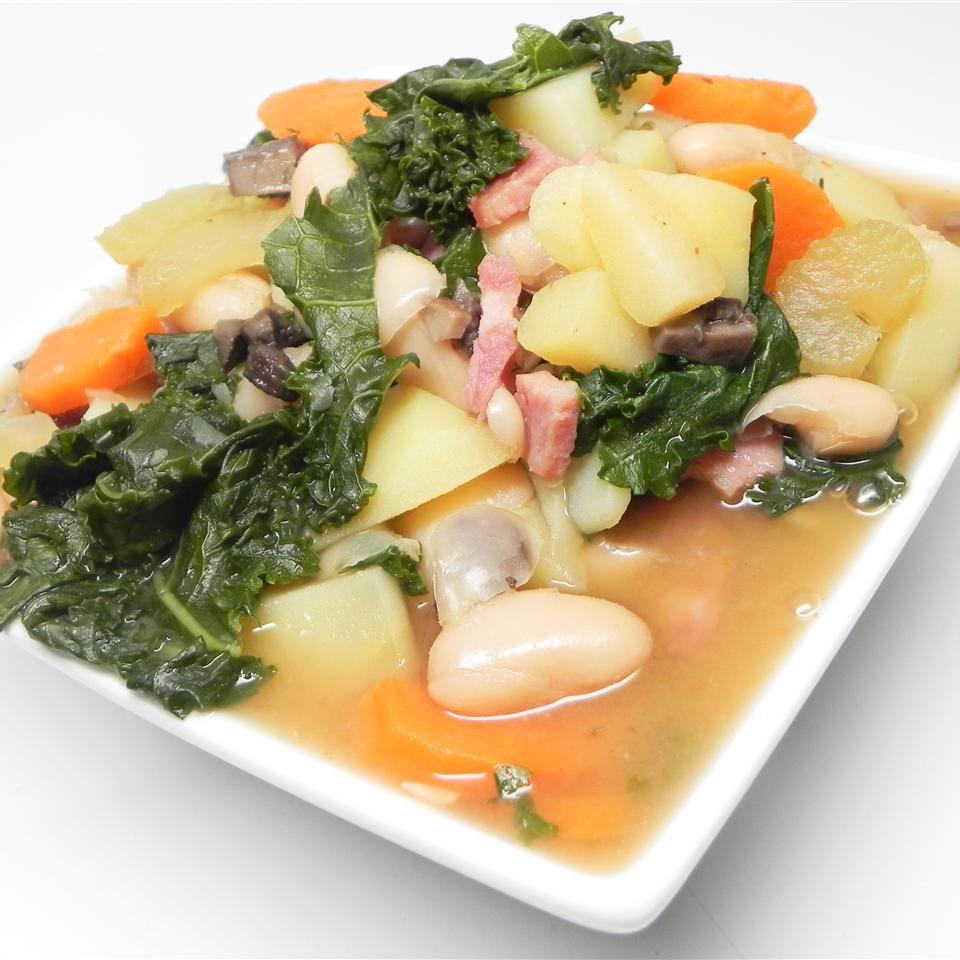 Ham, Parsnip, and Kale Soup