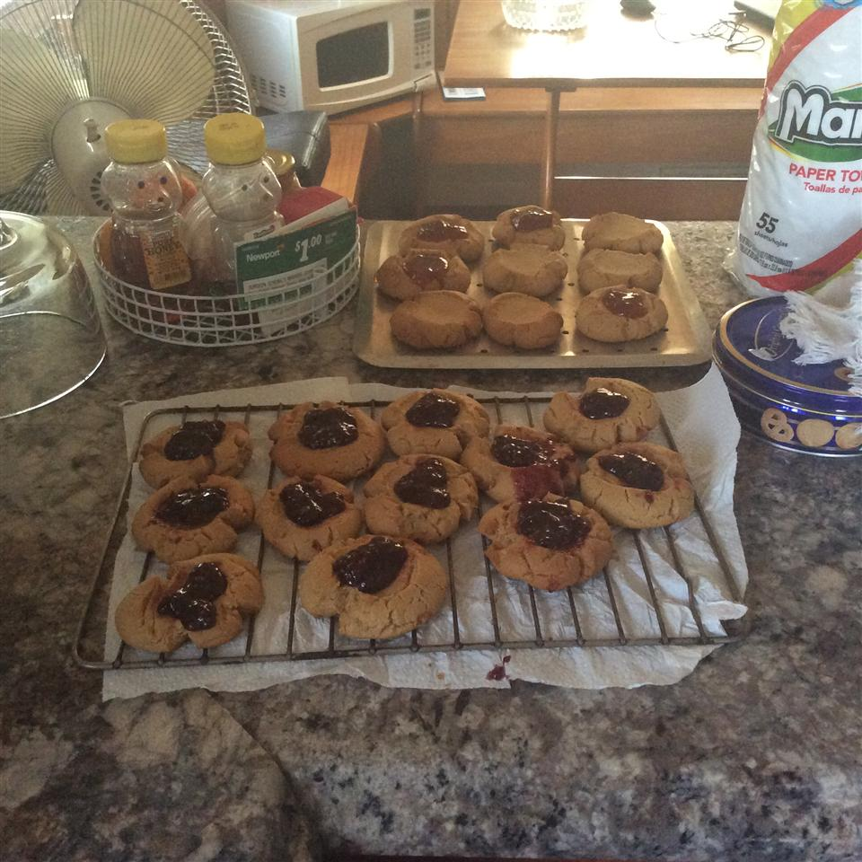 Peanut Butter and Jelly Thumbprint Cookies Jessica M. Nelson