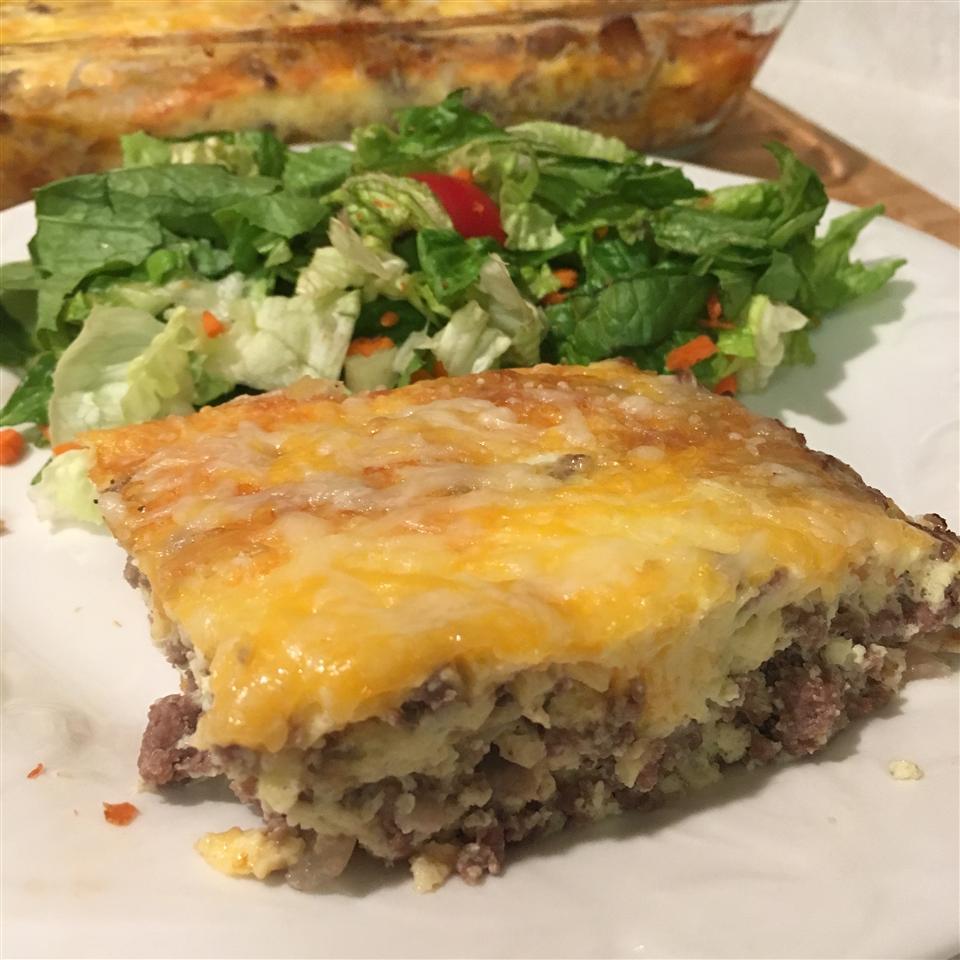 Crustless Cheeseburger Quiche