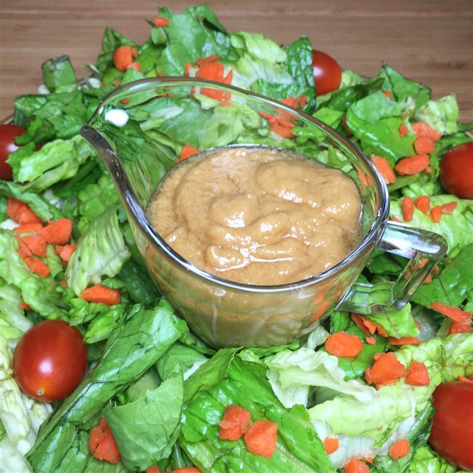 Maple Almond Butter Salad Dressing