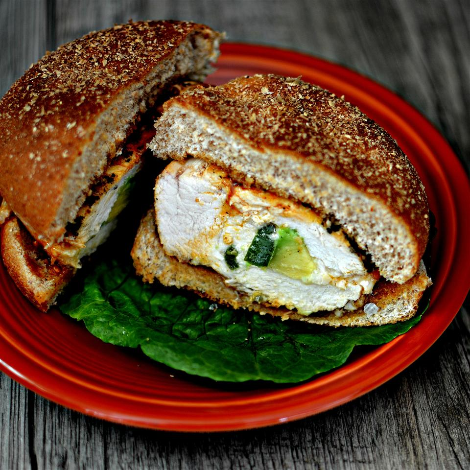 Spicy Grilled Stuffed Chicken Breast Sandwich