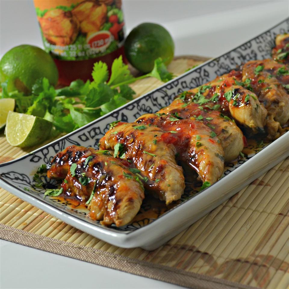 Grilled Lime Cilantro Chicken with Sweet Chili Sauce Kim's Cooking Now