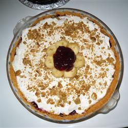 Blueberry and Banana Cream Cheese Pie Sarah