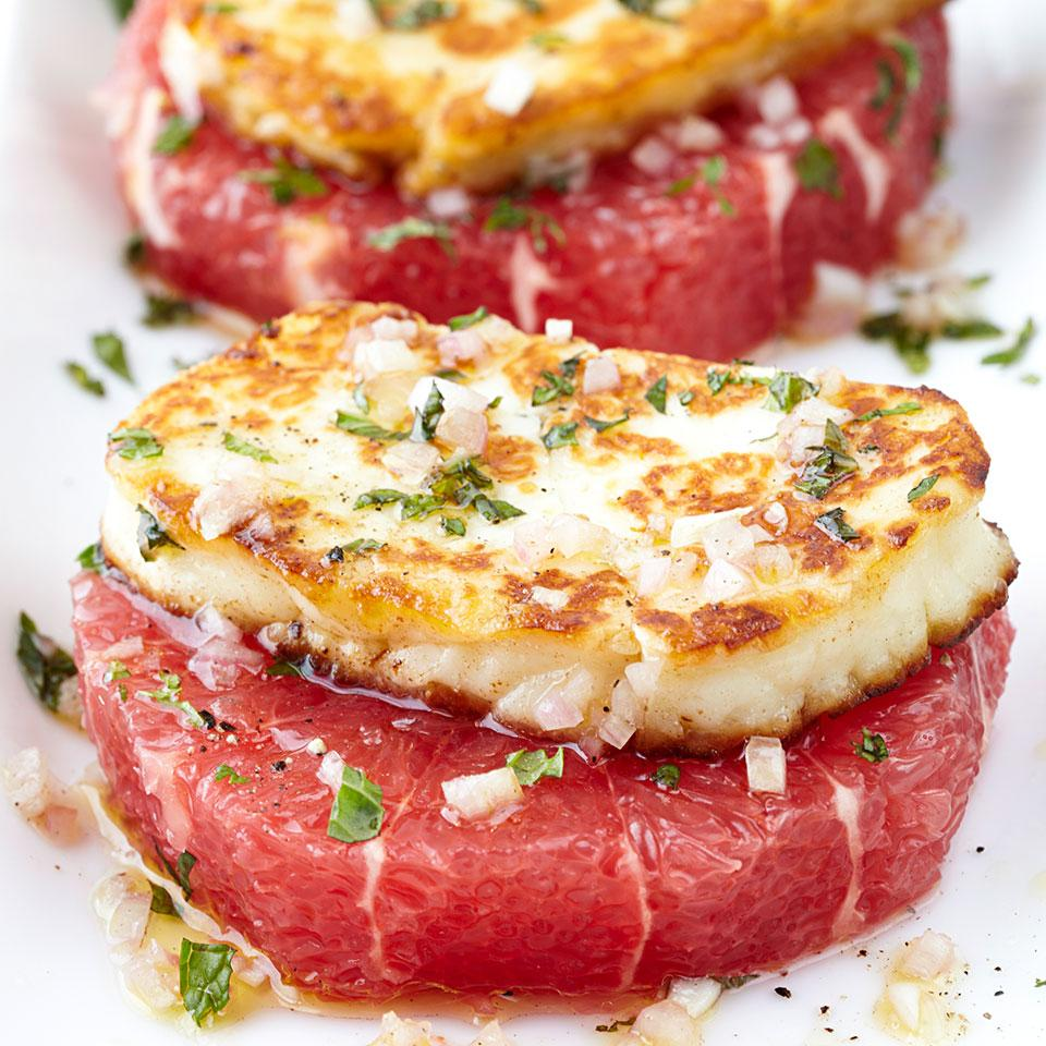 Grapefruit Rounds with Halloumi Cheese EatingWell Test Kitchen