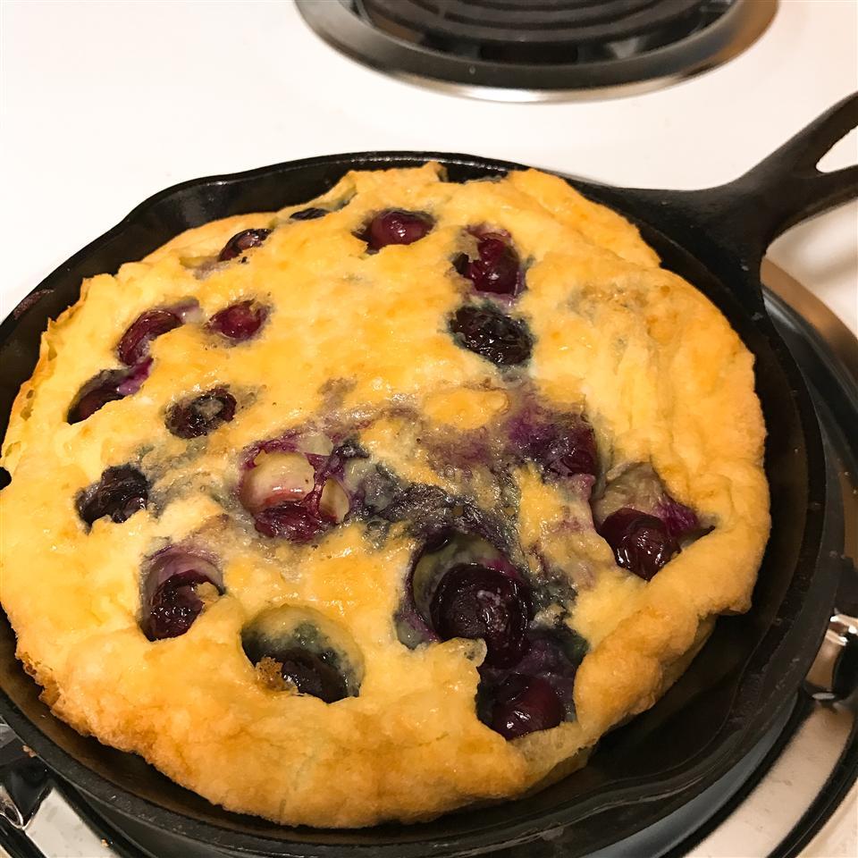 Paleo Blueberry Cast Iron Pancake thedailygourmet