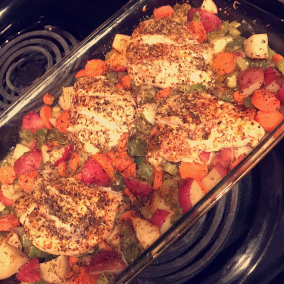 Baked Chicken Breasts and Vegetables