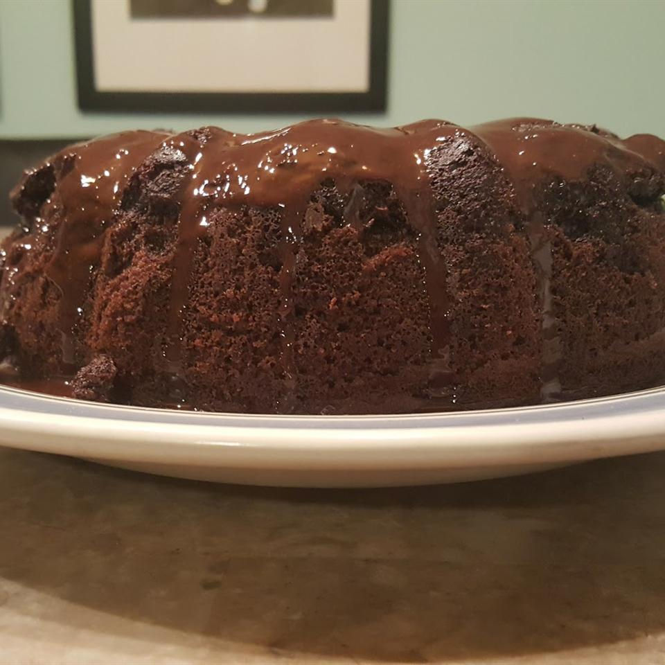 Chocolate Pudding Fudge Cake E-Drizzle