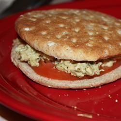 Carrie's Garlic Pesto Tuna Salad Sandwiches inskydiamonds