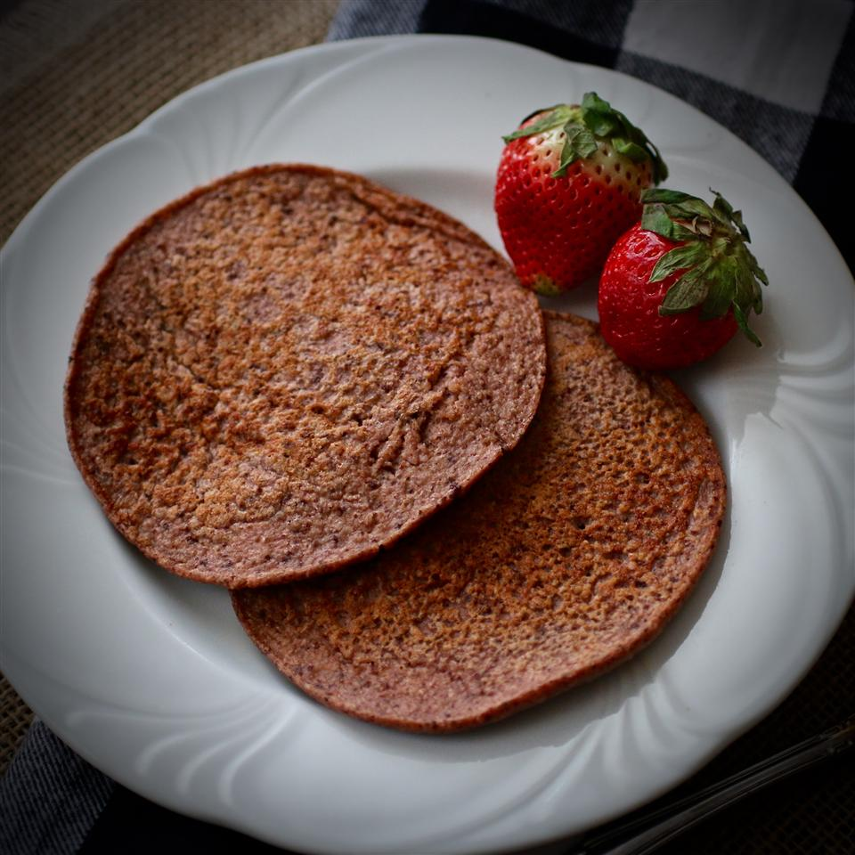 Strawberry Oat Chocolate Chip Greek Yogurt Pancakes