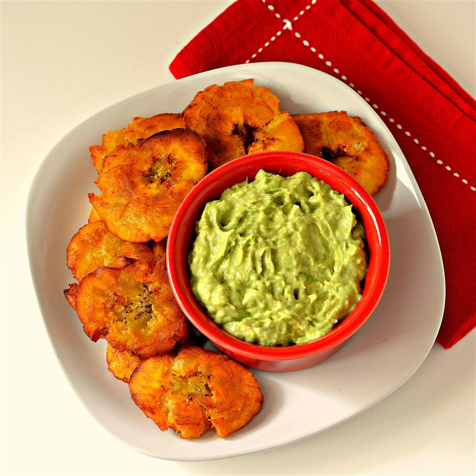 Fried Plantains With Avocado Dip