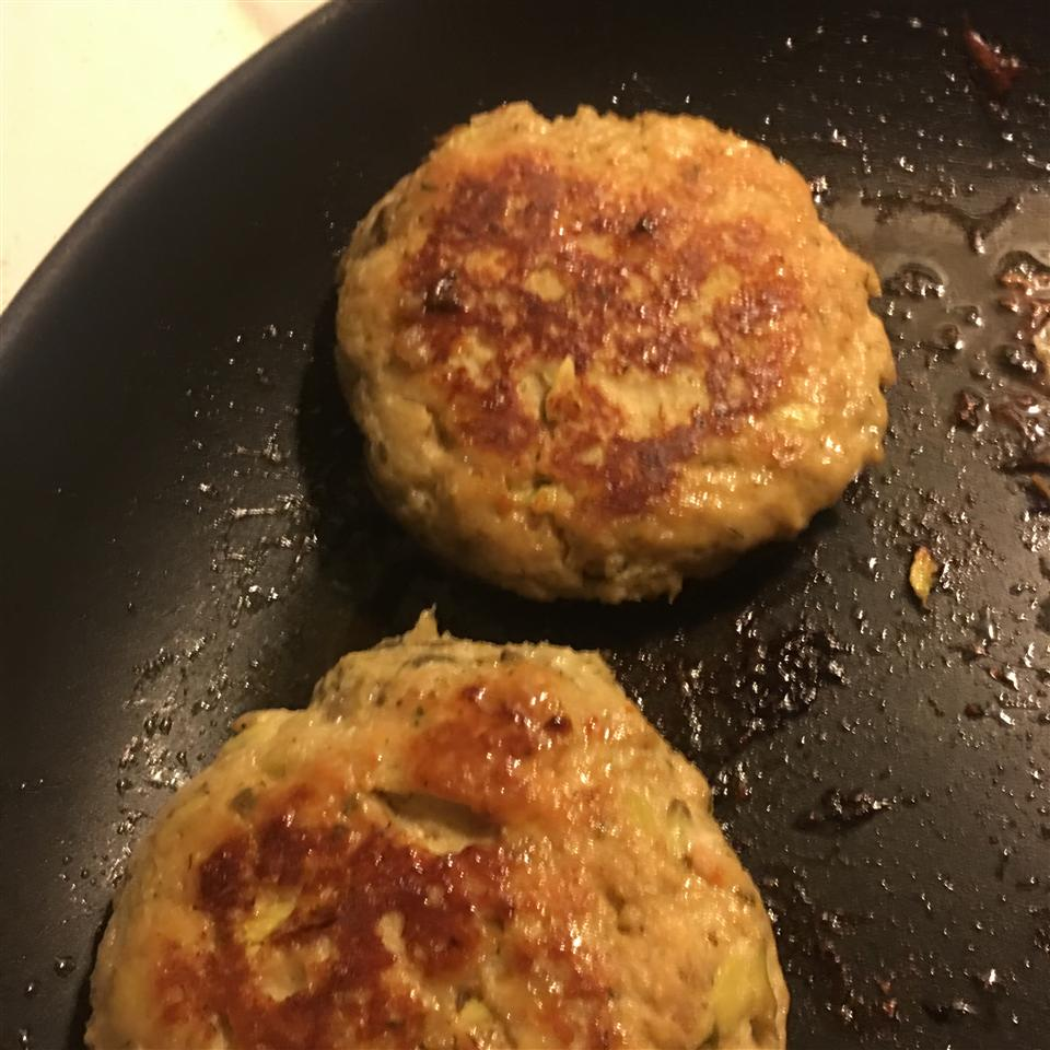 Greek Chicken Burgers with Feta Gina Skaer