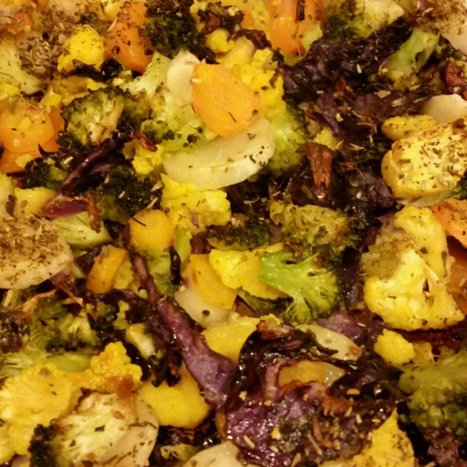 Herb Roasted Vegetables with Garlic Croutons RockerChick