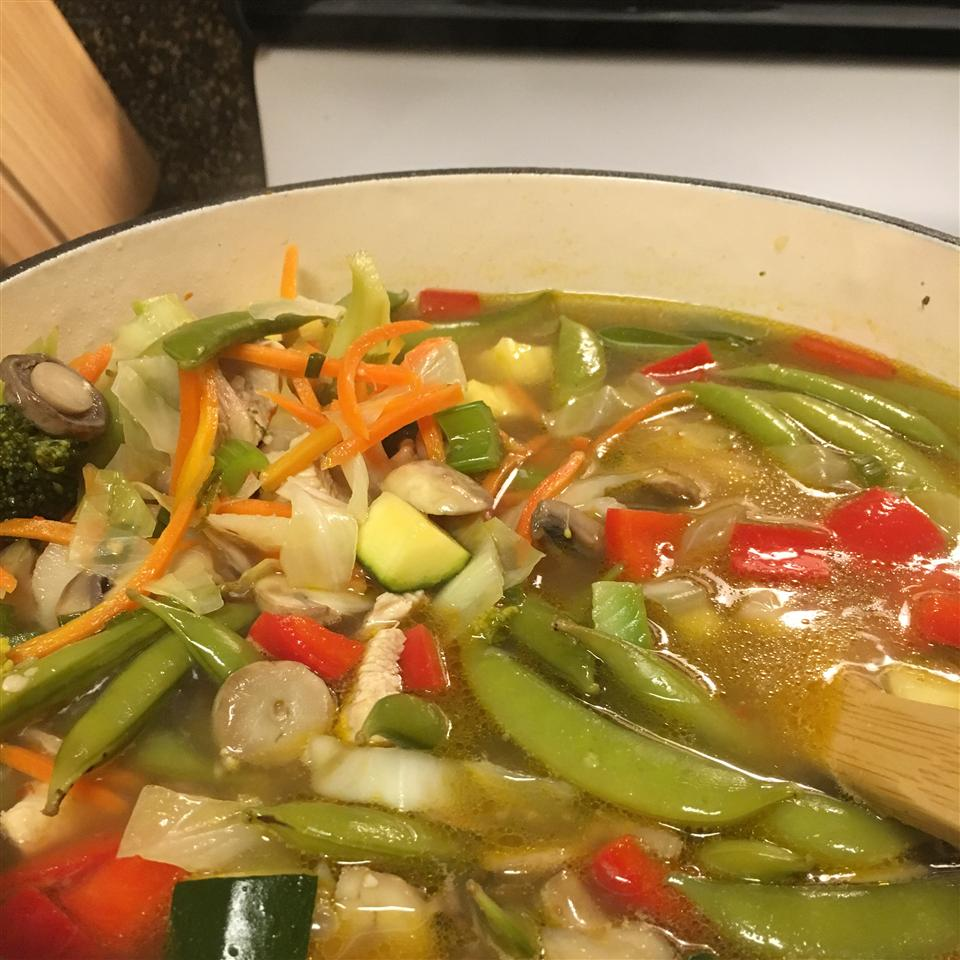 Chinese Chicken Vegetable Soup cara