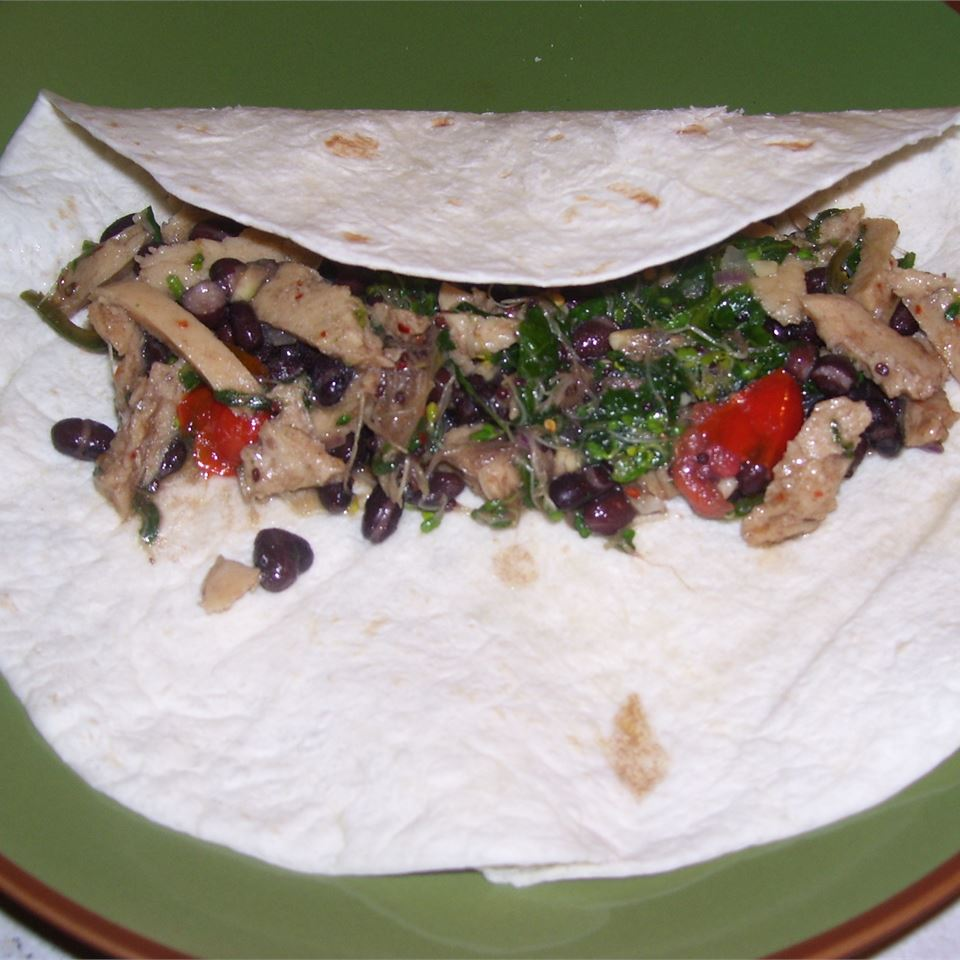 Barbeque Seitan and Black Bean Burritos beth