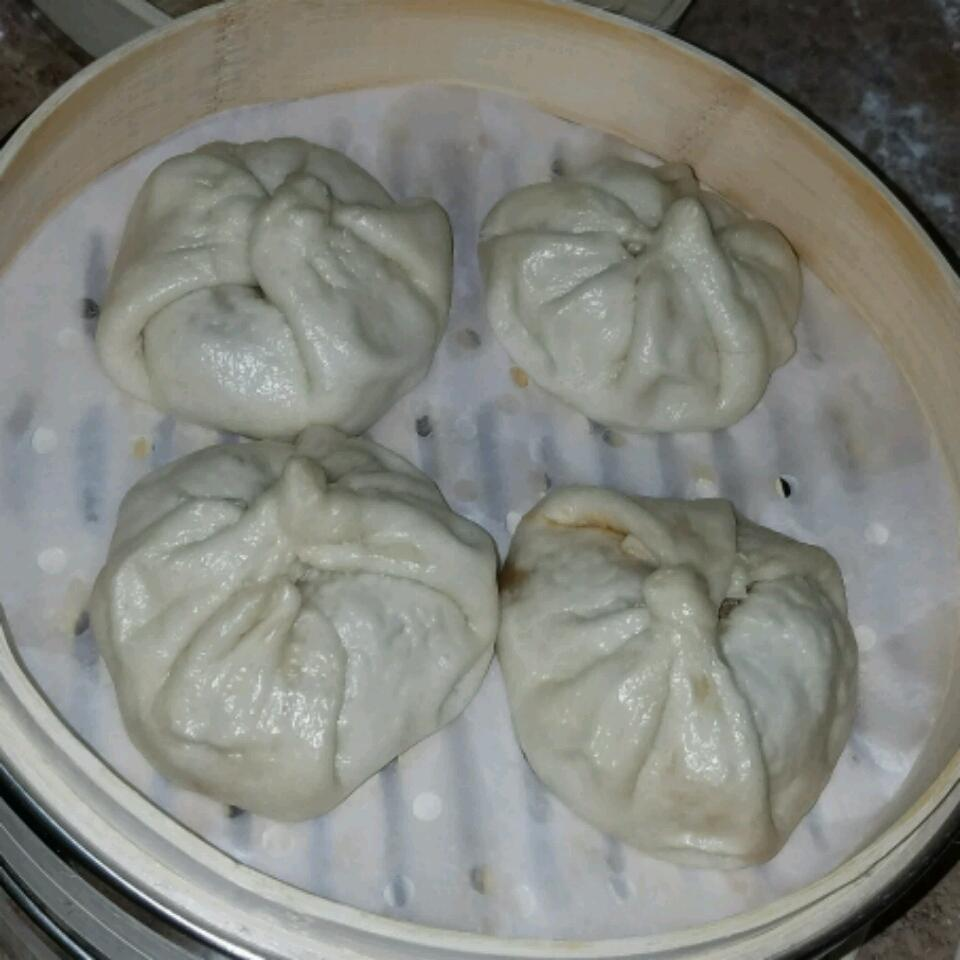 Chinese Steamed Buns with BBQ Pork Filling