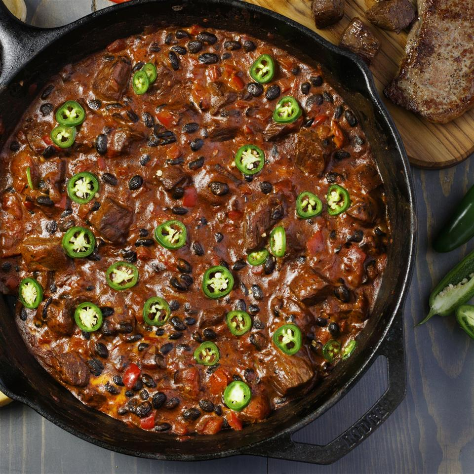 Oklahoma Ranchers Steak Chili Dip