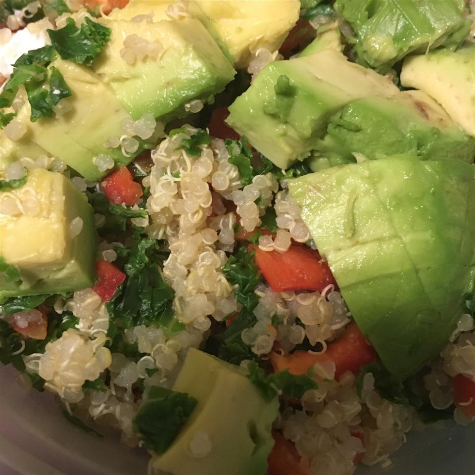 Kale, Quinoa, and Avocado Salad with Lemon Dijon Vinaigrette