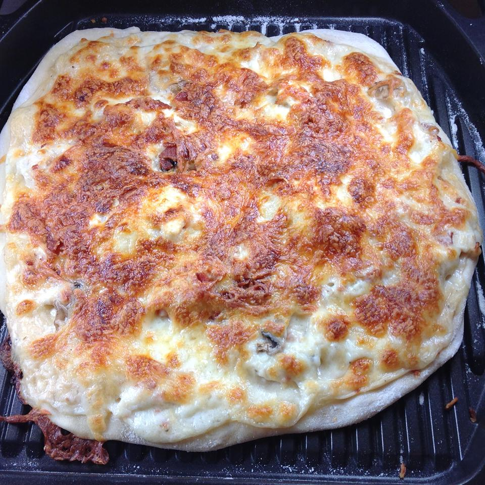 Grilled Chicken Alfredo Flatbread Pizzas Cliff G