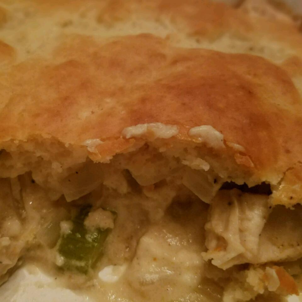Quick Chicken Pot Pie crakker crumbs