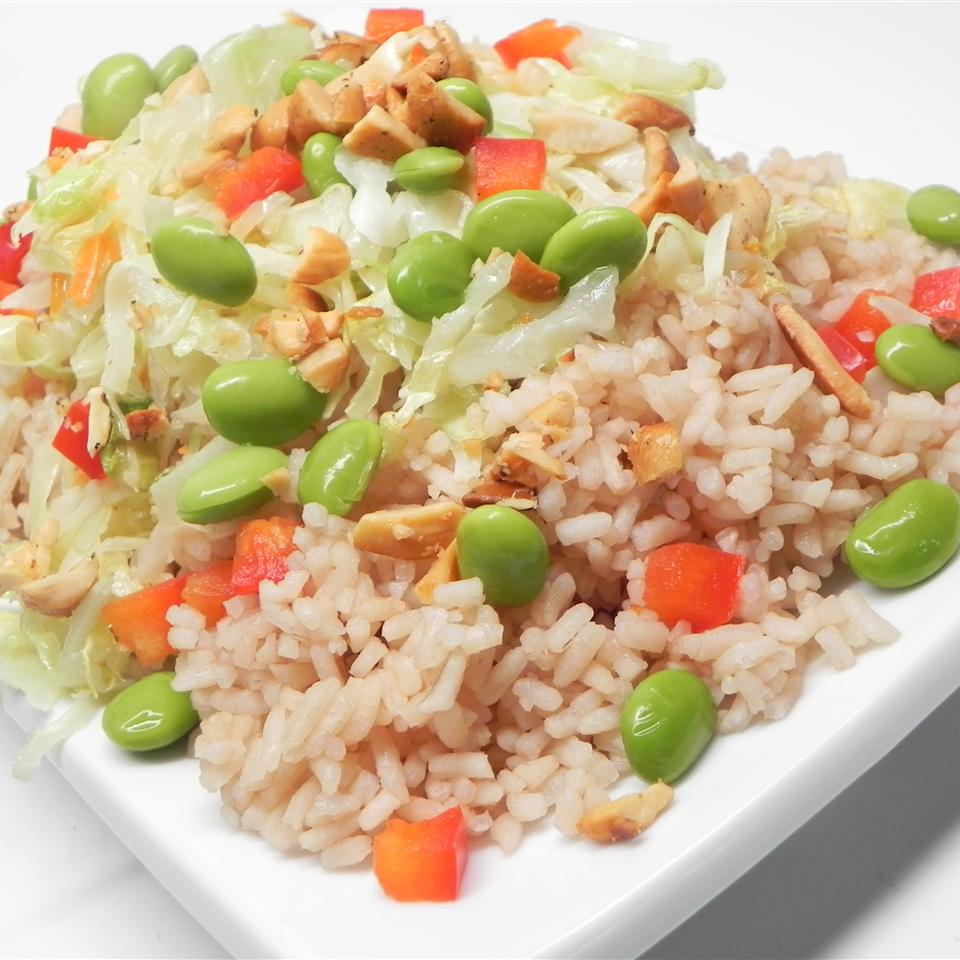 Asian Cabbage and Tea Rice