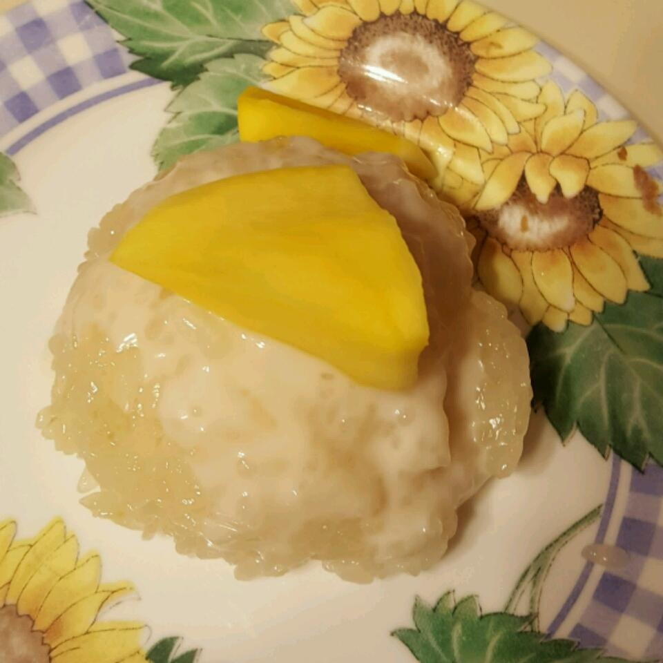 Sweet Sticky Rice with Mangoes LYNN39SCAF