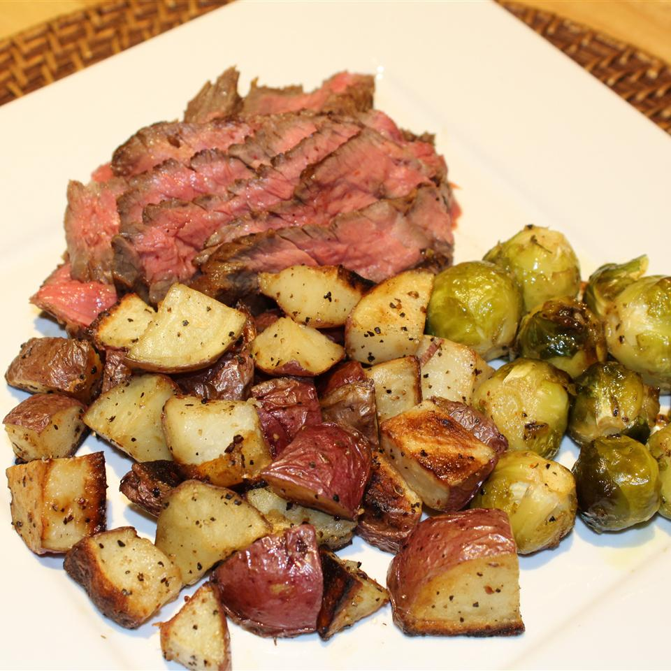 Grilled Skirt Steak with Roasted Potatoes