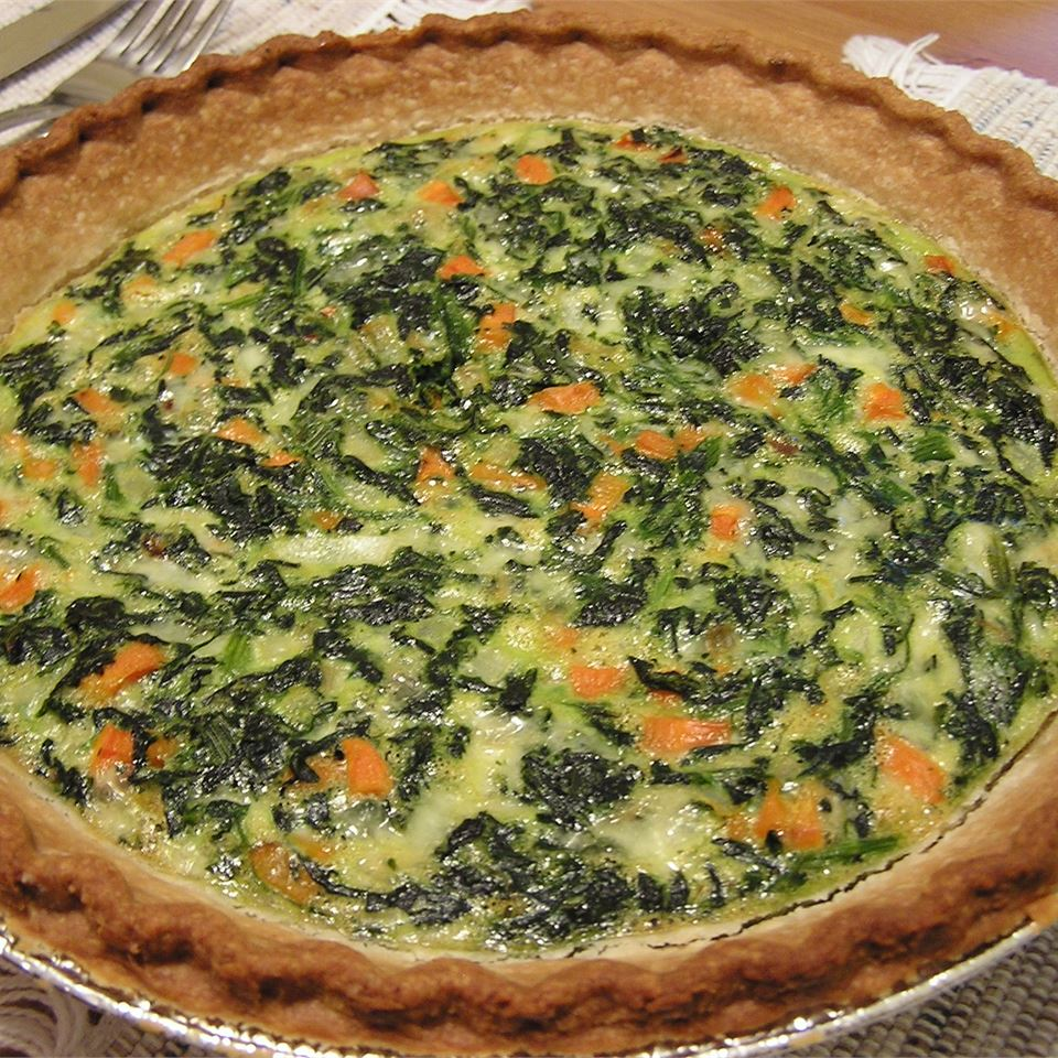 Spinach and Carrot Quiche CVG