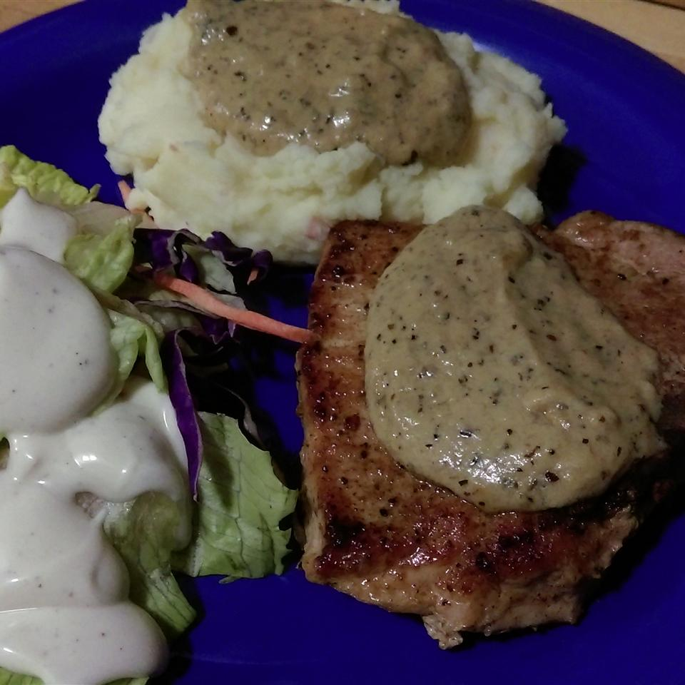 Creamy Herbed Pork Chops