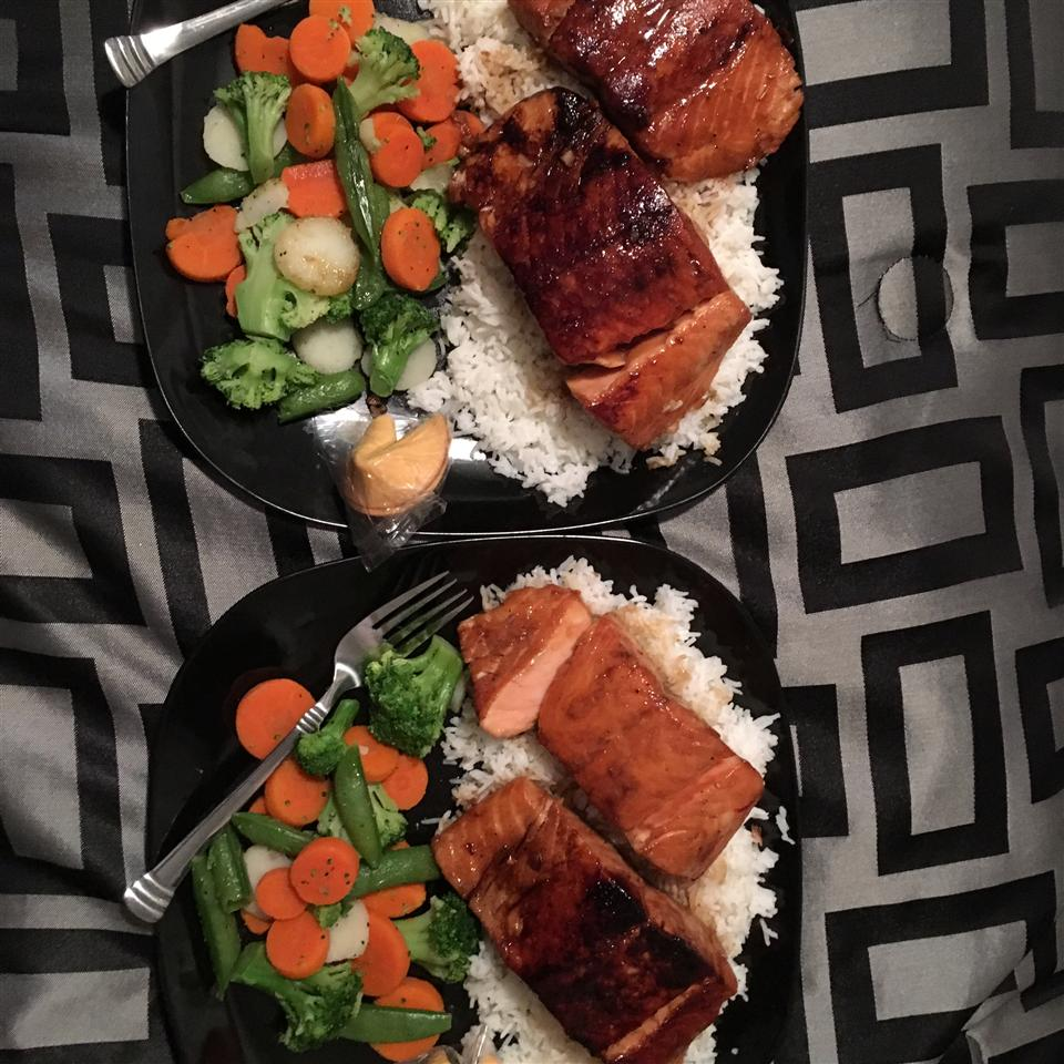 Sweet Glazed Salmon Korey