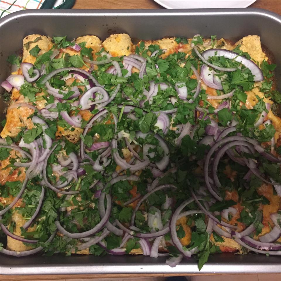 Chicken and Red Bean Enchiladas