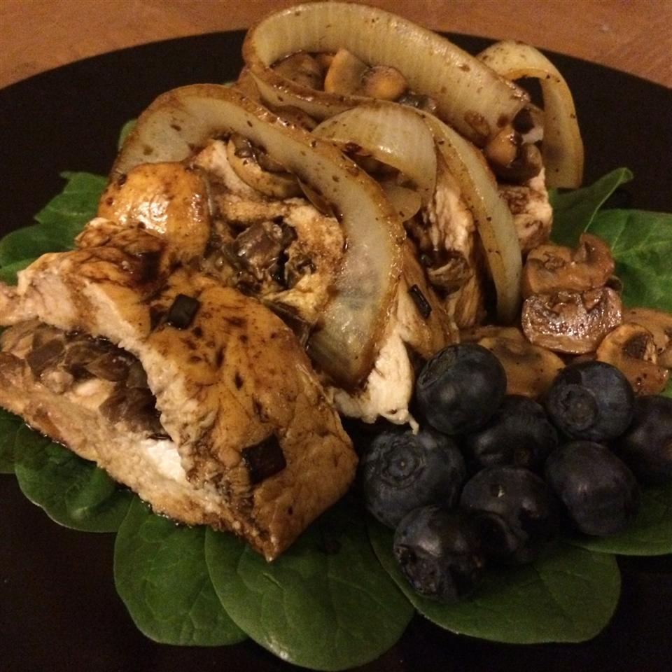 Balsamic Goat Cheese Stuffed Chicken Breasts