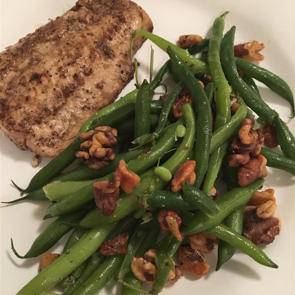 Lemon Green Beans with Walnuts Shaanmariee