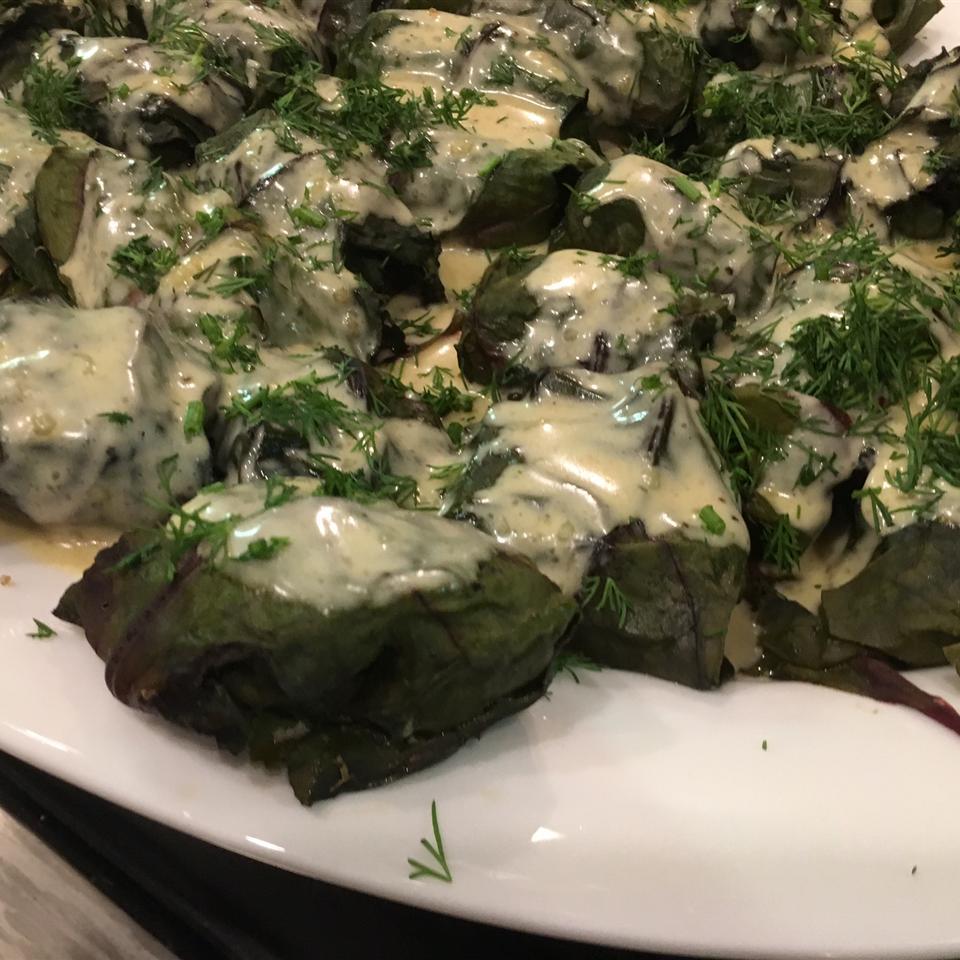 Ukrainian Beet Green Cabbage Rolls