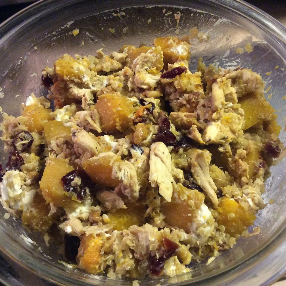 Quinoa with Butternut Squash, Chicken, and Goat Cheese ELLEES920