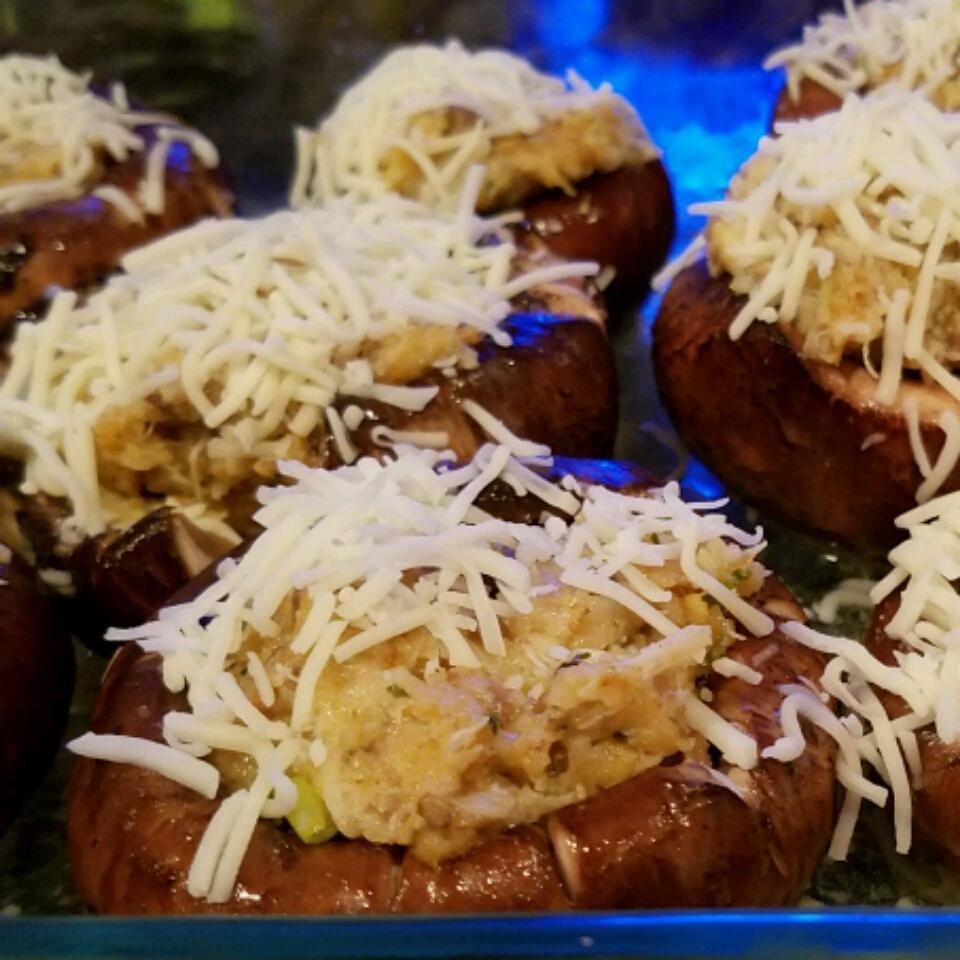 Savory Crab Stuffed Mushrooms FLAPamela