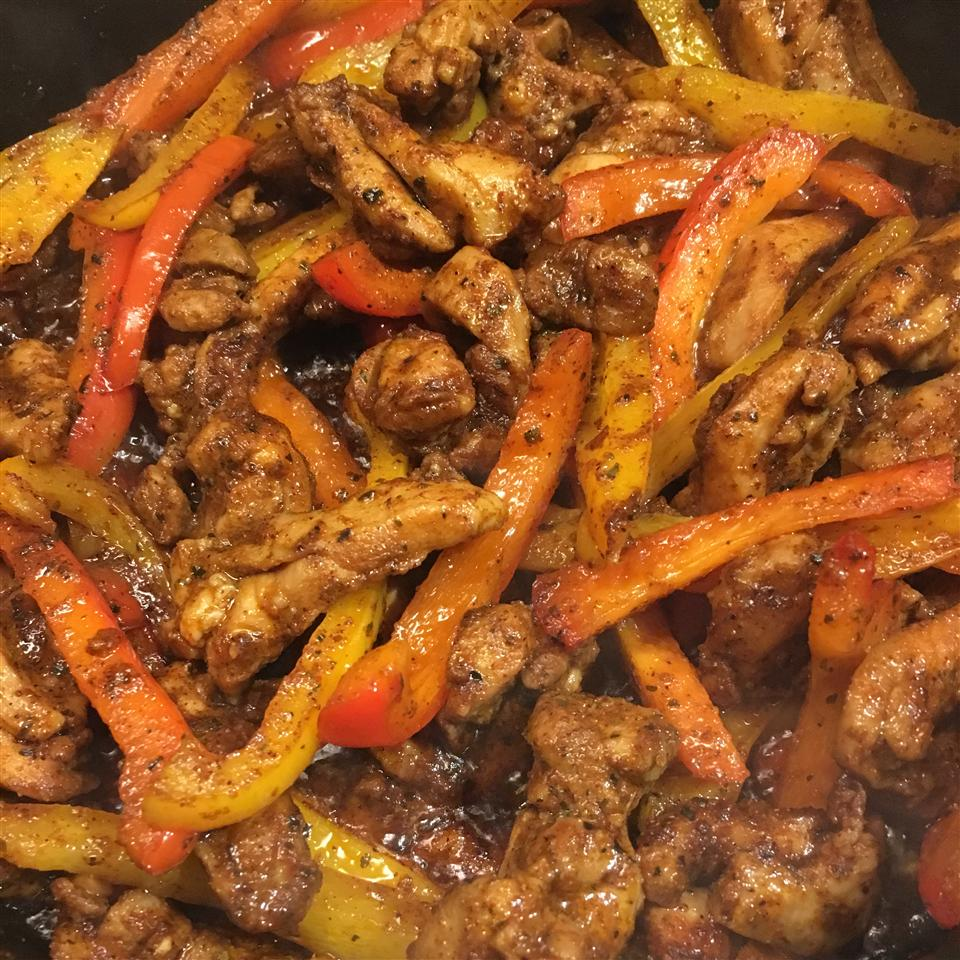 Easy Chicken and Bell Pepper Fajitas