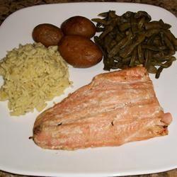 Molasses-Glazed Salmon