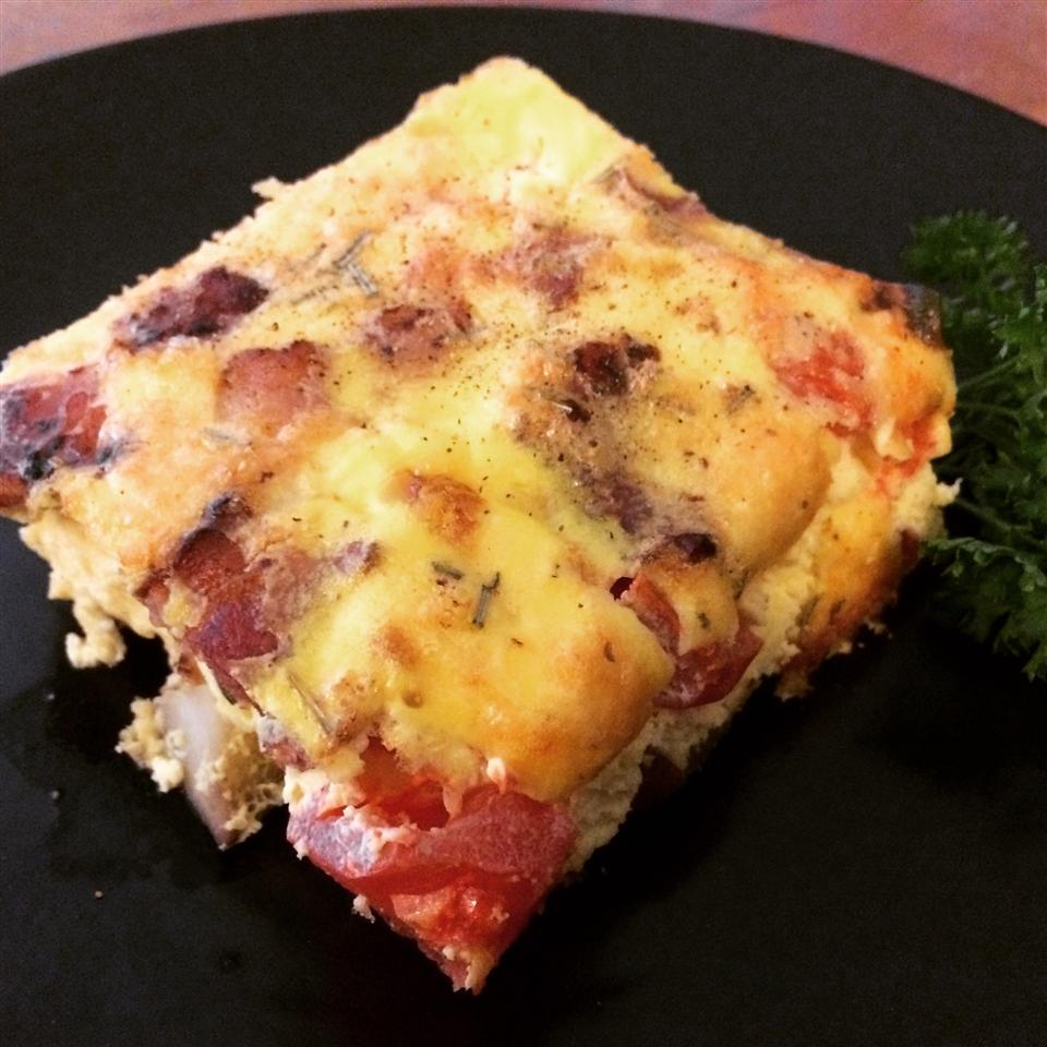 Rosemary, Bacon, and Tomato Frittata Kevin Kelm