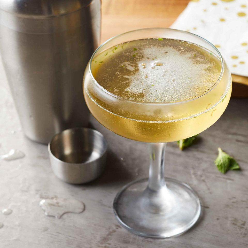 Elderflower adds sweet and fruity notes that mingle seamlessly with mint in this refreshing Champagne cocktail. Source: EatingWell.com, February 2017