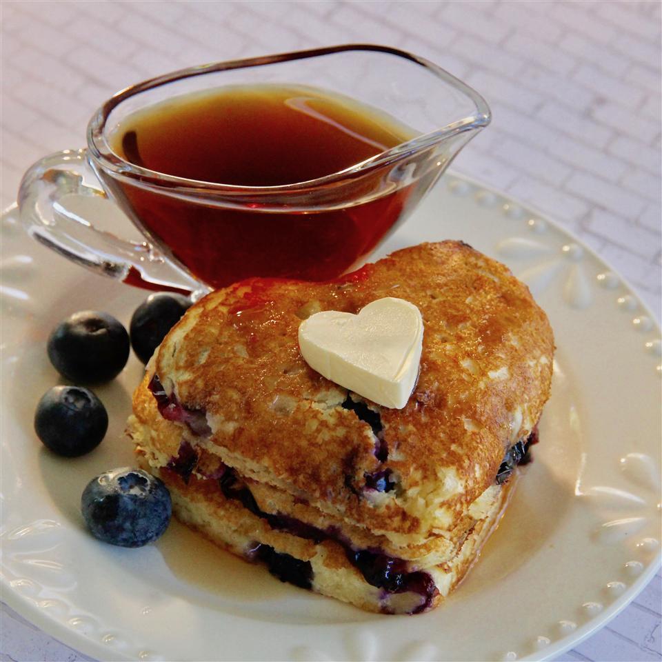 Blueberry Almond Pancakes