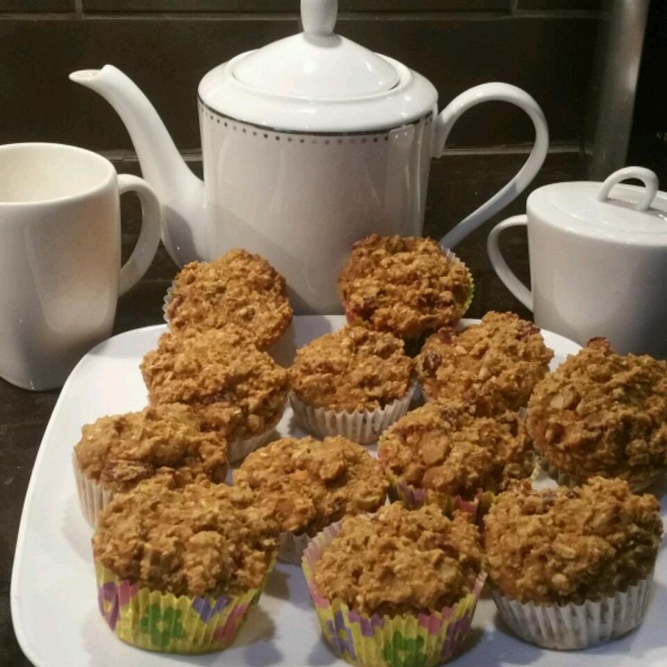 Cran-Orange Oatmeal Muffins