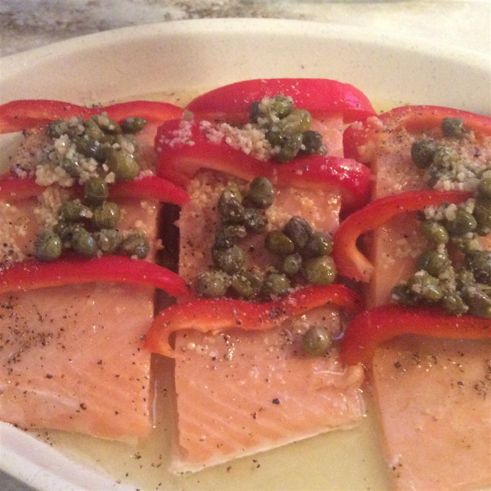 Bell Pepper and Lemon Salmon