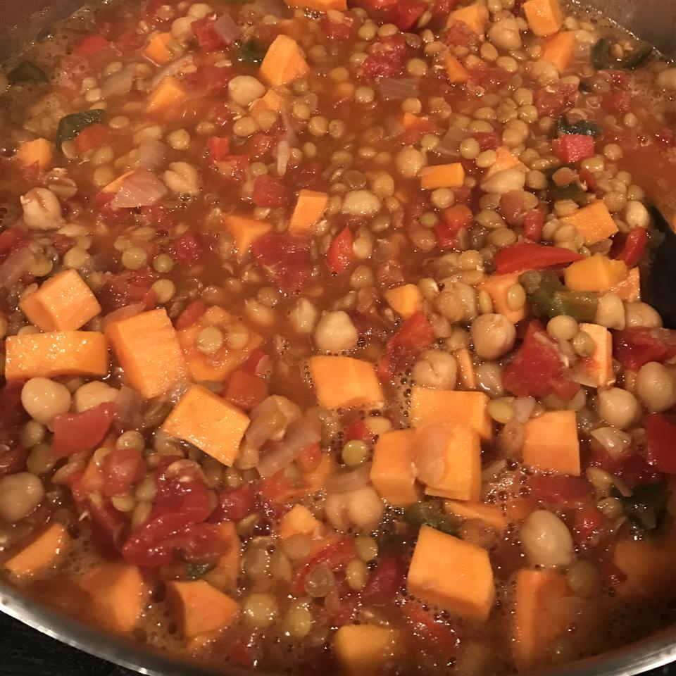 Lentil and Sweet Potato Chili AAAUrmom