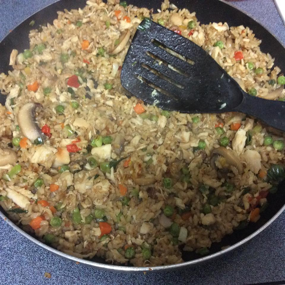 Garlic Chicken Fried Brown Rice Lourdes Alfaro